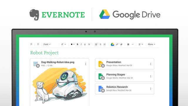 Evernote 配对 Google Drive,高效工作更智能